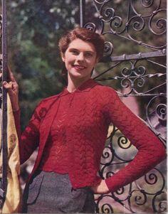 Stitchcraft Feb 1947 free vintage knitting pattern lacey