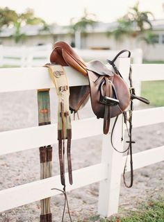 Hermes equestrian sport Oughton Limited Evidence of the day's work. A surcingle, saddle and bridle hang quietly on the fence line. - Art Of Equitation Pretty Horses, Horse Love, Beautiful Horses, Horse Gear, Horse Pictures, Equine Photography, Equestrian Style, Equestrian Problems, Wild Horses