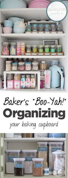 "Baker's ""Boo-Yah!"" Organizing Your Baking Cupboard| Organize Your Baking Cupboard, How to Organize Your Baking Cupboard, Organizing Your Kitchen, How to Organize Your Kitchen, Home Organization, Popular Pin"