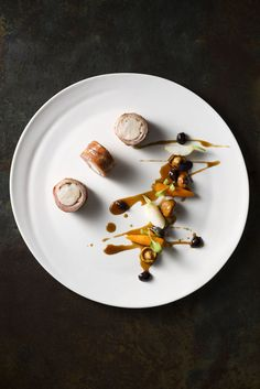 Classico e Moderno cookbook, photogrpahy by kaitlyn du ross Food Design, Design Art, Raw Food Recipes, Gourmet Recipes, Gourmet Foods, Gourmet Desserts, Plated Desserts, Modernist Cuisine, Molecular Gastronomy