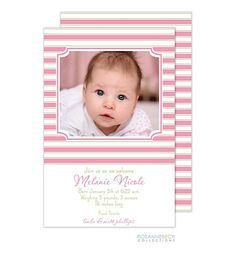 Birth Announcements, Photo Cards and Invitations from Preppy Pink Pony