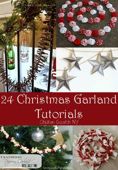 DIY Christmas Garland Tutorials garland from all those canning jar lids