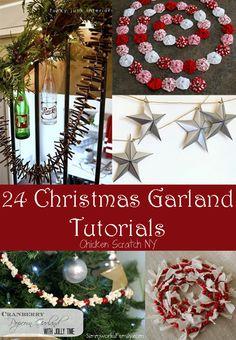 DIY Christmas Garland Tutorials garland from all those canning jar lids