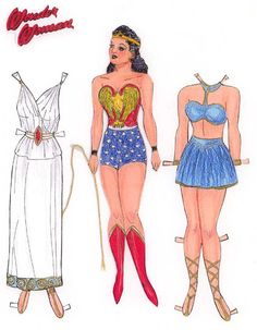 Wonder Woman Paper Doll