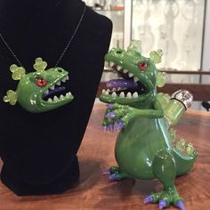 Smart Glass Appreciation – Best of Glass Reptar Oil Dab Rig and Glass Pendant #rugrats