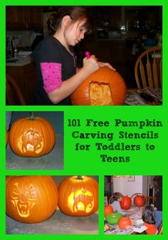 Free Pumpkin Carving Stencils for Toddlers to Teens -- #Disney, Nick Jr., texting lingo, #Star Wars and more!