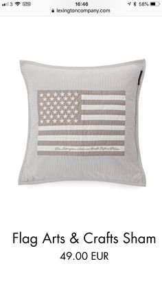 East Coast Beaches, Flag Art, Beach House, Bed Pillows, Arts And Crafts, Ideas, Beach Homes, Pillows, Craft Items