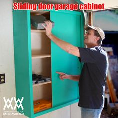Woodworking for Mere Mortals: Free woodworking videos and plans. : Make a sliding-door garage or shop cabinet