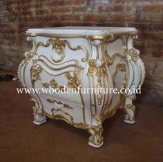 Rococo Bed Side Antique Night Stand Classic Lamp Table European Home Furniture $153