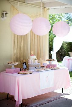 Baptism dessert table