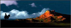 Thorgal - by Neil C. Visual Development, Monument Valley, Composition, Environment, Animation, Colour, London, Mountains, Landscape