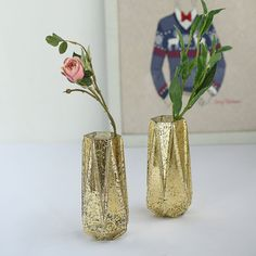 Party Centerpieces, Flower Centerpieces, Flower Vases, Gold Wedding Theme, Gold Wedding Decorations, Mercury Glass Candle Holders, Mothers Day Decor, Floral Tablecloth, Vase Fillers