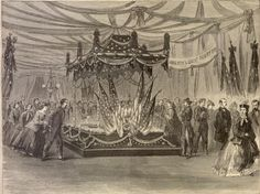 lincoln funeral springfield 1865 | PRESIDENT LINCOLN 'S FUNERAL-THE CATAFALQUE AT THE CITY HALL, CHICAGO ...