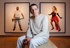 """Description of . Leonard Nimoy with his photography exhibit, """"Secret Selves,"""" at the Massachusetts Museum of Contemporary Art in North Adams, Mass., on July 23, 2010. Nimoy, who has been a photographer since before playing Spock on """"Star Trek,"""" is opening his first major solo exhibition at the museum. (Michael Cavanaugh/The New York Times)"""