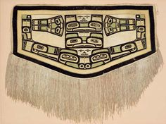 CHILKAT BLANKET -- c. before 1832 - Tlingit artist - mountain goat wool, yellow cedar bark --  PEM   Native American Art « Collections