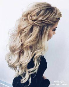 33 lange Haare geschnitten für Damen - beautiful hair styles for wedding Night Out Hairstyles, Down Hairstyles, Braided Hairstyles, Hairstyles 2018, Elegant Hairstyles, Formal Hairstyles For Long Hair, Hairstyle Ideas, Medium Hairstyle, Hair Medium