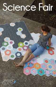 Science Fair --Jaybird Quilts. Gives me an idea for felt floor rugs made from giant hexies