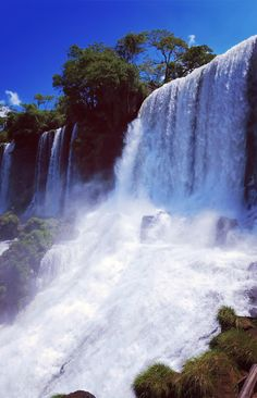 Stunning waterfalls in Argentina.
