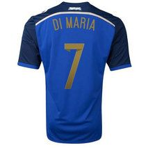 Argentina national team 14-15 AWAY SOCCER SHIRT #7 DI MARIA [1404011633]
