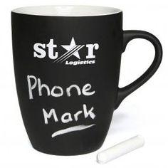 Promotional chalkboard coffee mug