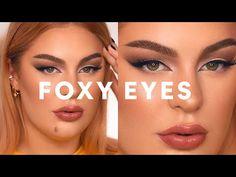 Glam Makeup, Makeup Art, Hair Makeup, Makeup Ideas, Hooded Eye Makeup, Hooded Eyes, Eyeliner Tutorial, Eye Tutorial, Fox Eyes