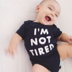 Hello Merch — I'm Not Tired (Babies) Navy One-Piece with snaps Little Doll, Little Babies, Cute Babies, Navy One Piece, Foto Baby, Everything Baby, Baby Family, Baby Kind, Baby Fever