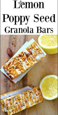 Lemon Poppy Seed Granola Bars are a delightful afternoon snack! Totally gluten free and easy to make!