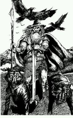 Hail the One-Eyed God, king of Asgard, father of Thor, husband to Frigg. Hail, Oski.
