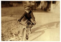 Lewis Hine: Curtin Hines, 14 years old, Western Union messenger, Houston, Texas, 1913, via Flickr.