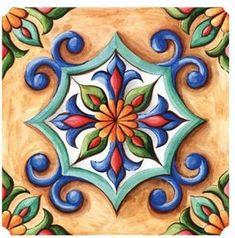 Items similar to Ornamental Vinyl Tiles Stickers Kitchen Bathroom DIY Sticker Tile on Etsy Ceramic Wall Art, Ceramic Painting, Tile Art, Fabric Ornaments, Flower Ornaments, Nativity Ornaments, Christmas Ornaments, Design Art Nouveau, Vinyl Tiles