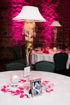 Wedding, Lamp Centerpiece, Country Club