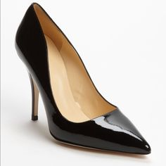 Kate Spade 'Licorice Too' pump Black Patent, used a few times please see pics. Light creasing in the front other than that they're perfect!  No box no dustbag kate spade Shoes Heels