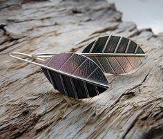 Sterling Silver Leaf Earrings SL5 - Folksy