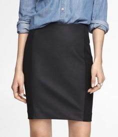 Like the skirt with the denim