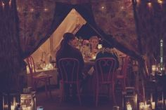 intimate dinner in the cutest of tents! photo by | VIA #WEDDINGPINS.NET