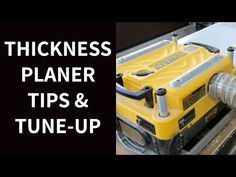 Thickness planers are great, but you need to give them some TLC so they work properly. Click for tips on keeping wood moving and coming out smooth. Woodworking Planer, Wood Planer, Rough Wood, Cabinet Makers, Diy Home Improvement, Tool Design, Decks, Pallet, Running