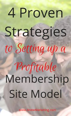 4 Proven Strategies to Setting up a Profitable Membership Site Model. What if you had the ability to build a business that was scalable, easily automated and generated you recurring income? Make Money Online, How To Make Money, Building A Business, Growing Your Business, Affiliate Marketing, Digital Marketing, Investing, Success, Internet