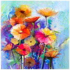 "Floral Canvas Painting - 20"""" x 20"""" ($33) ❤ liked on Polyvore featuring home, home decor, wall art, assorted ast, floral wall art, canvas home decor, floral home decor, canvas painting and canvas wall art"