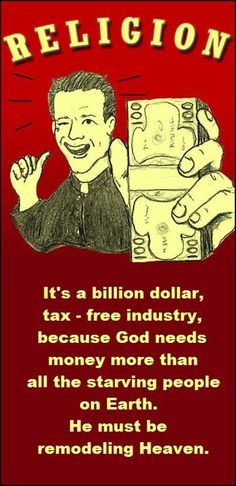 If the church does not want to keep the separation of church and politics, then the government should not keep separated taxes upon the church.