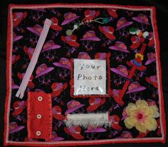 Etsy Made From Red Hat Society Fabric Fidget by ScrubCapsAndStuff