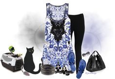 """""""Saturday Vet Appointment"""" by arjanadesign ❤ liked on Polyvore"""
