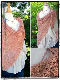 Beautiful Arrow Beaded Shawl.  Original pattern by Yarns by HPF.  You can find the pattern on Ravelry or purchase the kit from Yarns by HPF.