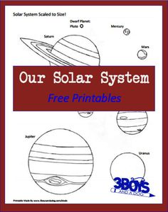 In addition to these printable scaled-to-size planet printables, I also made a list of several great solar system printables and activities.  I hope you find it useful!