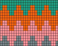 Nest in the tree: Seamless zigzag kirjoneuletakki Tapestry Crochet Patterns, Crochet Quilt, Crochet Chart, Quilt Patterns, Knitting Charts, Knitting Patterns, Graph Paper Art, Peyote Stitch Patterns, Graph Design