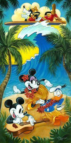 "Disney Fine Art: ""Tropical Life"" by Tim Rogerson"