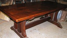 Barnwood table by jeffbuildsfurniture. This will one day be in my dining room.