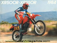 1984 Honda XR500R and XR350R Photos/Specs Brochure $13.99
