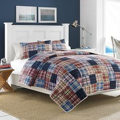 Nautica Blaine Pieced Cotton Quilt, Full/Queen -- Want to know more, visit http://www.amazon.com/gp/product/B00SD3P8GM/?tag=ilikeboutique09-20&cd=020816212956