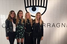 Valentina Ferragni, Giorgia Marin, Elisabetta Pellini and Serena Iaricci at the presentation of the new Chiara Ferragni shoes collection during the Milan Fashion Week, on September 27, 2015 in Milan, Italy.