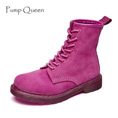 f45cbe9bf61 Boots Women. Women fashion candy color ankle boots winter pink genuine  leather shoes for female platform ...